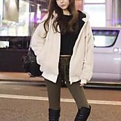 Women's Fashion Leisure Slim Faux Fur Coat