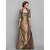 Lanting Bride® A-kroj Plus veličina / Niska građa Haljina za majku mladenke - S ogrtačem Do poda Rukava do lakta Čipka / Taft -