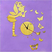 3DのDIYのモダンなスタイルの新しい天使のbutterflysミラー壁時計