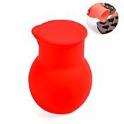 bricolaje Mini crisol chocolate, material de silicona, dia. 5.5cm, color rojo