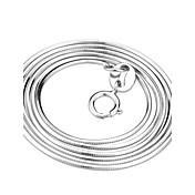 Dámské Řetízky Had Stříbro Klasický Bílá Šperky Pro Párty Denní Ležérní 1ks