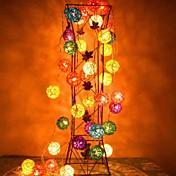 装飾用jiawen®4メートル20leds RGB LEDラタンボール列ライトクリスマスの文字列ライト(AC 110 - 220V)