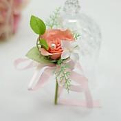 ウェディングブーケ フリーフォーム バラ ブートニエール 結婚式 パーティー ・夜 コットン シルク 1.97inch(約5cm)