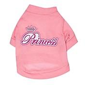 Gatos / Perros Camiseta Rosado Ropa para Perro Primavera/Otoño Letra y Número