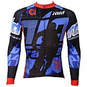 ILPALADINO Cyklodres Pánské Dlouhé rukávy Jezdit na kole Prodyšné Rychleschnoucí Odolný vůči UV záření Vrchní část oděvu 100% polyester