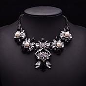 永遠の女性のアクリル宝石真珠ファッションネックレス