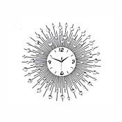 コンテンポラリー 風景 壁時計,円形 メタル 60 x 60 x 4cm(23.62 x 23.62 x 1.57inch) 屋内 クロック