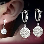 Peckové náušnice kuličkové náušnice Náušnice Základní design Klasický Stříbro Zirkon Umělé diamanty Koule Stříbrná Šperky ProSvatební
