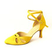las mujeres a medida de satén correa de tobillo latino / los zapatos de baile de salón con diamantes de imitación (más colores)