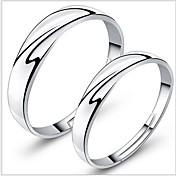 指輪 カップル用 銀 銀 調整可 銀