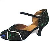 Zapatos de baile (Verde) - Moderno Tacón Personalizado