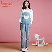妊娠中の女性のためのベルベットの韓国大規模なコードビブパンツジーンズのズボンと冬腹部パンツ妊婦
