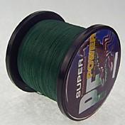 1000M / 1100 Patios Hilo trenzado PE / Dyneema Sedal Verde Oscuro 28LB / 18LB / 10LB / 15LB / 12LB / 22lb