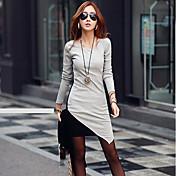 レトの女性のカジュアルなコントラストカラーのドレス