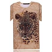 モト男性の3DパターンのプリントTシャツ