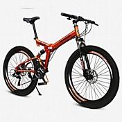 Bicicleta de Montaña Bicicletas plegables Ciclismo 21 Velocidad 26 pulgadas/700CC BRILLANTE SYS Doble Disco de FrenoHorquilla de