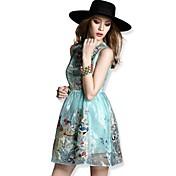 TS® ドレス ( オーガンザ ) 膝上 - セクシー/カジュアル/キュート/パーティー/オフィス - ライナー付き