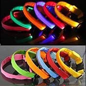 犬用品 カラー 防水 / 反射 / LEDライト / 調整可能/引き込み式 虹色 ナイロン / ラバー