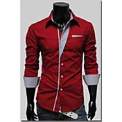 ジョーメンズファッションカジュアルすべて一致長袖シャツ