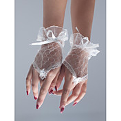 K zápěstí Bez prstů Rukavice Síť Pro nevěstu Party rukavičky Léto