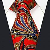 Corbata (Rojo , Seda) - Casual