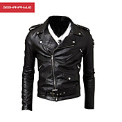 MANWAN WALK®Men's Side Zipper Motorcycle Leather Jacket