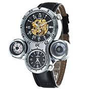 El reloj mecánico Cuerda Automática Banda Blanco Negro