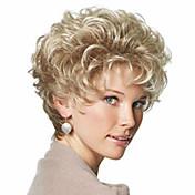 美しいブロンドのファッションスタイル短い巻き毛のかつら