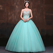 Kjole kjole søde gulvlængde polyester tulle aften kjole