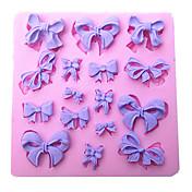 mini-bowknot formas molde de silicone molde do bolo do cozimento da cozinha ferramenta sugarcraft decoração