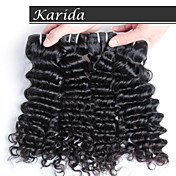 3 PSC /ロットkarida高品質インドの安いレミー人間の髪の毛、生の未処理のバージンインドの毛