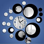 de tres dimensiones redondez reloj de pared 3d espejo creativo