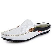 Hombre-Tacón Plano-Confort-Zuecos y pantuflas-Informal-Cuero-