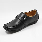 Para Niño-Tacón Plano-Zapatos de Cuna-Calzado de Barco-Exterior-Piel Sintética-Negro