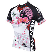 ILPALADINO Maillot de Ciclismo Mujer Manga Corta Bicicleta Camiseta/Maillot Tops Secado rápido Resistente a los UV Transpirable