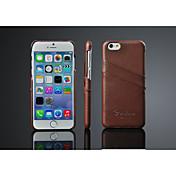 Para iPhone X iPhone 8 iPhone 8 Plus iPhone 6 iPhone 6 Plus Carcasa Funda Soporte de Coche Cubierta Trasera Funda Color sólido Dura Cuero