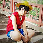 Inspirovaný One Piece Monkey D. Luffy Anime Cosplay kostýmy Cosplay šaty Patchwork Bez rukávů Vesta Kraťasy Pro Pánské