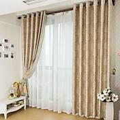 Dos Paneles Ventana Tratamiento Campestre Neoclasicismo Europeo Sala de estar Poliéster Material Blackout cortinas cortinasDecoración