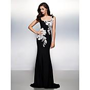 Trompeta / Sirena Escote Cuadrado Larga Jersey Evento Formal Vestido con Apliques por TS Couture®