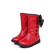 Obuv dívčí - Outdoor / Šaty / Běžné - Módní boty - Koženka - Kozačky - Černá / Červená / Bílá