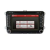 7 pulgadas 2din DVD del coche para Volkswagen con GPS, canbus, rds, bt, parking trayectoria, ipod, pantalla táctil