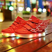 男の子用-カジュアル-レザー-フラットヒール-アイデア 靴を点灯-スニーカー-ブラック ブルー ピンク レッド ホワイト