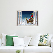 クリスマス ロマンティック 静物 ホリデー ウォールステッカー 3D ウォールステッカー 飾りウォールステッカー 材料 取り外し可 ホームデコレーション ウォールステッカー・壁用シール