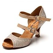 Zapatos de baile (Marrón) - Danza latina - No Personalizable - Tacón Luis XV