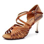 Zapatos de baile (Negro / Marrón) - Danza latina - No Personalizable - Tacón de estilete