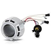 "2.5 ""la linterna del coche bi-xenón se escondió kit lente lámpara del proyector del ojo del ángel de CCFL doble"