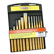 rewin® herramienta de punzón y un cincel 12pcs fijaron con cr-v materiales