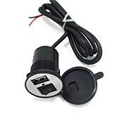 スイッチ1.5Aで12V-24V電動自動車電話の充電器のUSB車の充電器