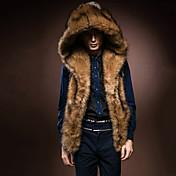 Muži Jednobarevné Běžné/Denní Kožich-Umělá kožešina Liška Zima Bez rukávů