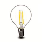 E14 フィラメントタイプLED電球 G45 4 COB 400 lm 温白色 調光可能 交流220から240 V 1個